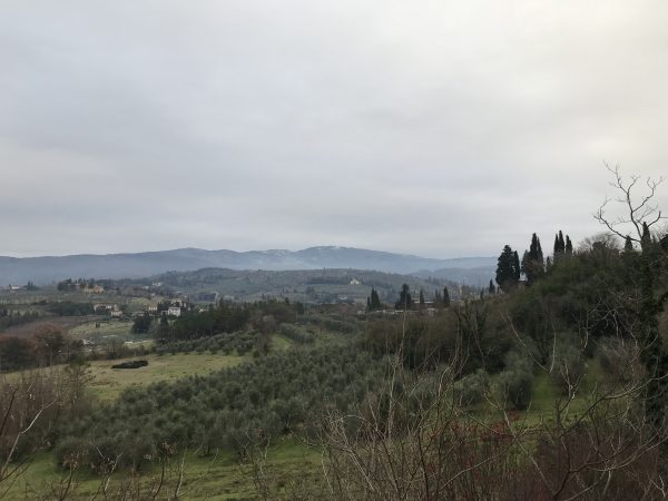 view of tuscany in the winter time