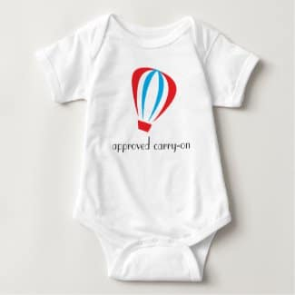 Approved Carry-On Baby Bodysuit front