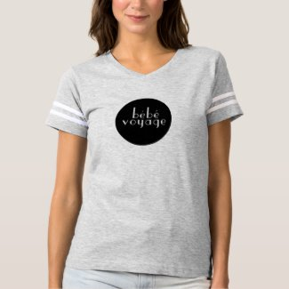 Bebe Voyage Black and White Logo T T-shirt front