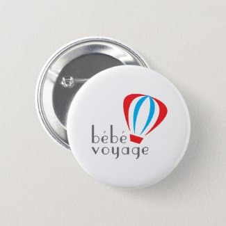 Bebe Voyage Logo Button front and back
