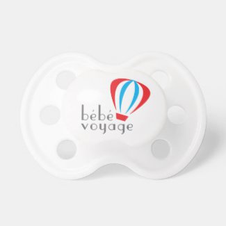 Bebe Voyage Logo Pacifier front
