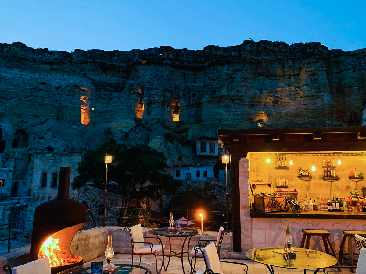 The cave hotels and restaurants in cappadocia are stunningly beautiful and a sight to see themselves!
