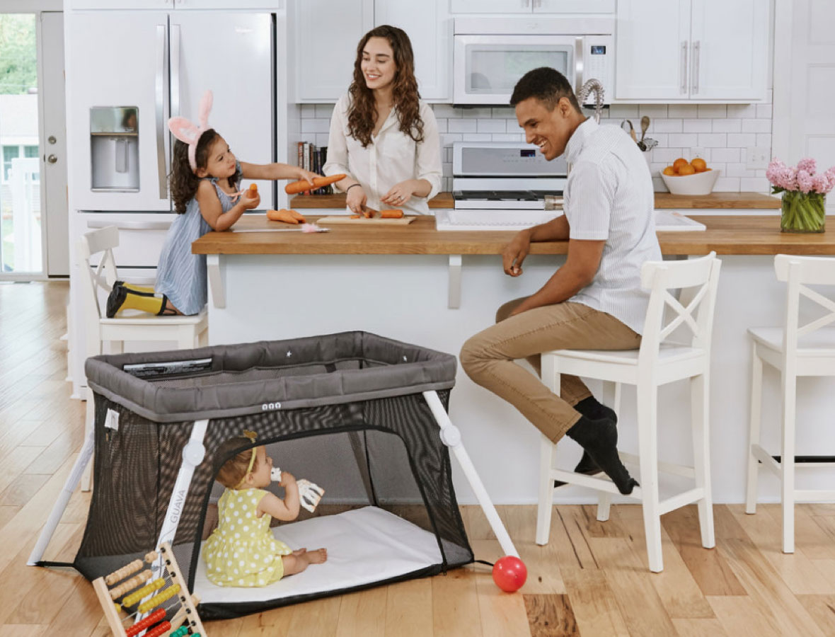Guava Family Lotus Crib is a great baby registry item!