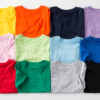 Ruffle Toddler T-shirt color options