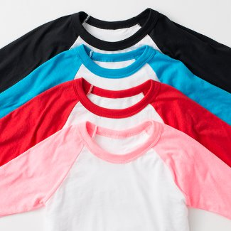 Toddler Raglan Shirt color options