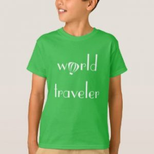World Traveler Logo Tee front