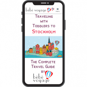 travelling with toddlers to stockholm