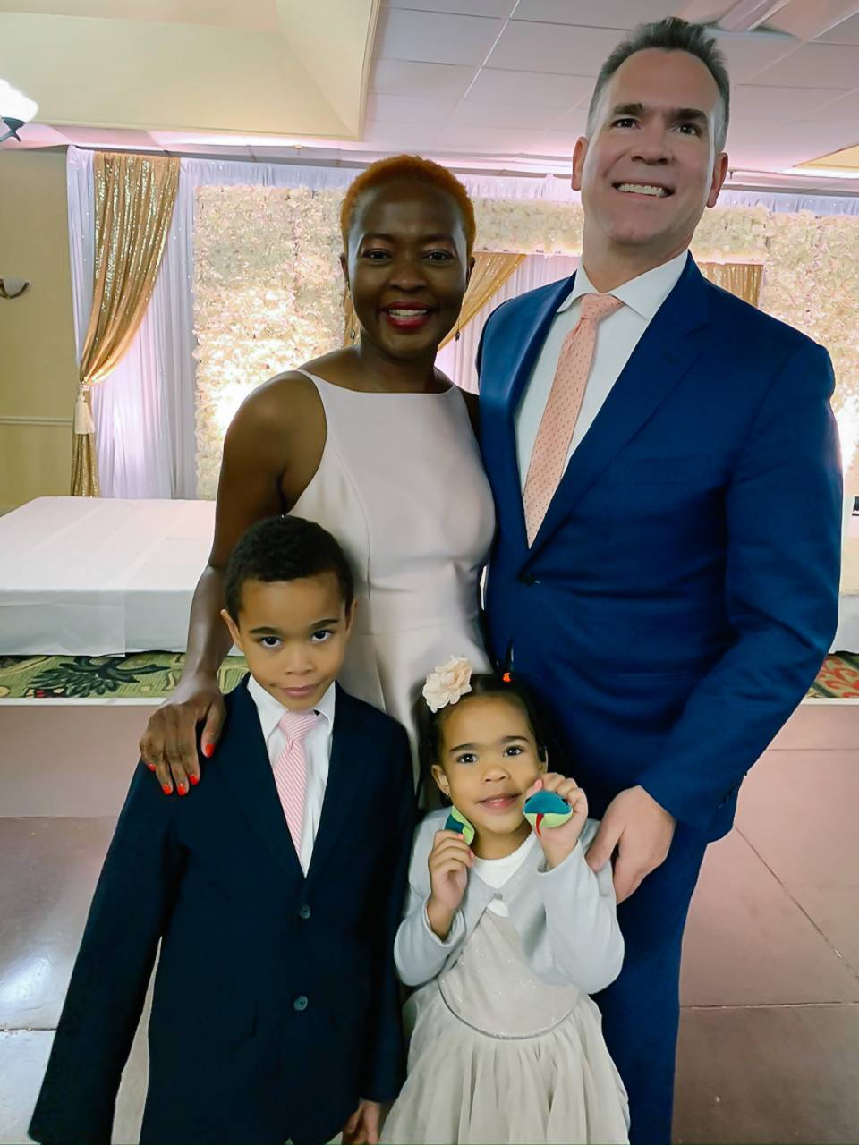 Diane Obryon and her family. They have made 5 international moves together!