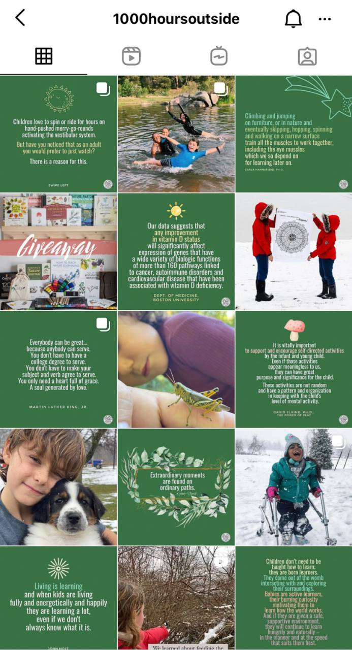 Need some ideas to get your kids outside? Check out this Instagram account that will not only help with remote learning but also keep your kids away from the electronics!
