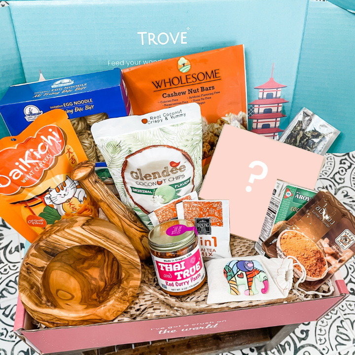 Trove Travel Box delivered direct to your door.