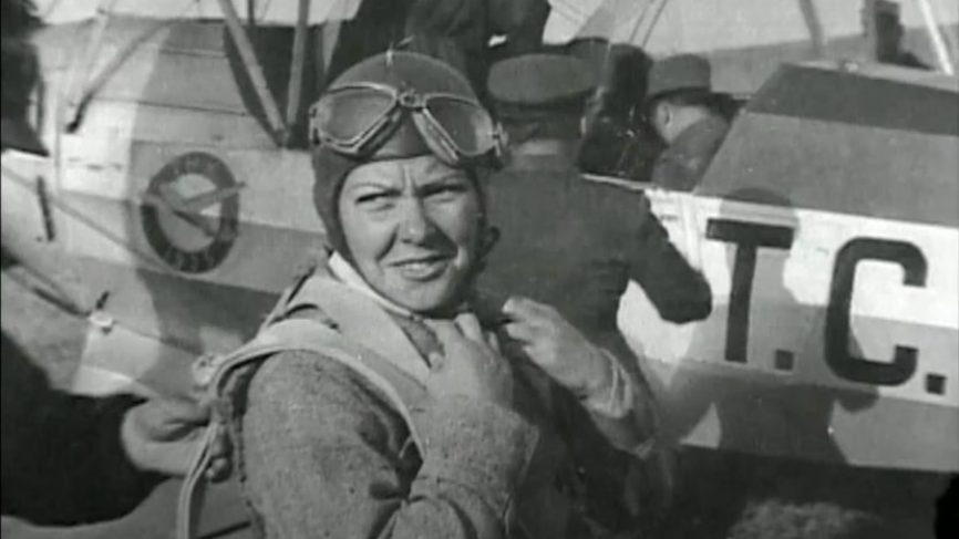 Women in history - the first female fighter pilot.