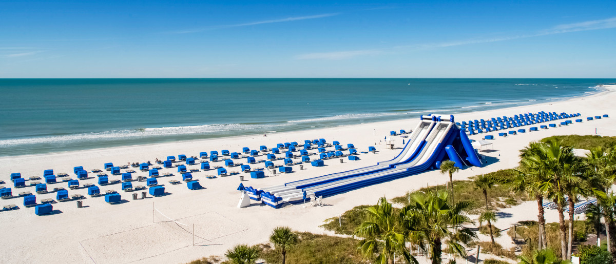 A 3 story slide will make every kid happy! One of our favorite Florida beach resorts!