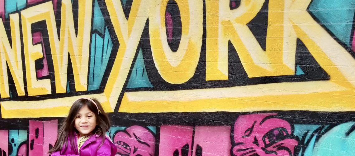 NYC graffiti little girl