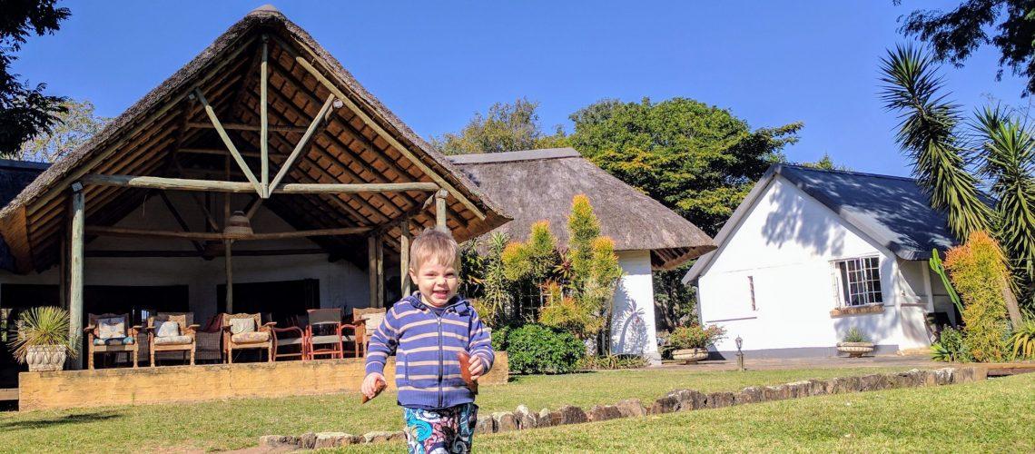 Seringa Lodge kid running in garden