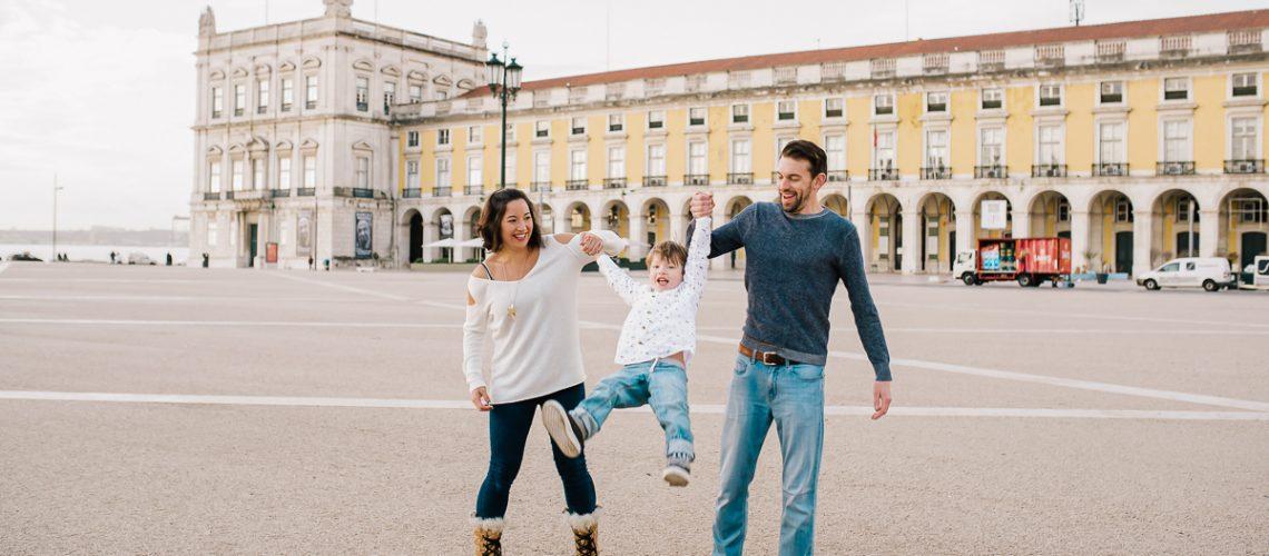 A Bébé Voyage ambassador family in Lisbon, Portugal